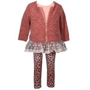 Youth Girls 3 Pieces Outfit & Knit Sweater New